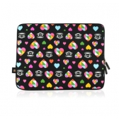 "paul frank 0008-b pop multi hearts julius 15"" laptop sleeve"